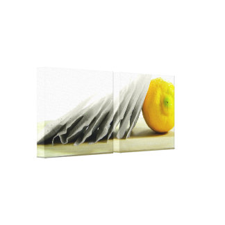 Lemon and Tea Wrapped Canvas Gallery Wrapped Canvas