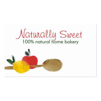 lemon apple spoon baking bakery business cards