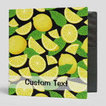 Lemon Background 3 Ring Binder