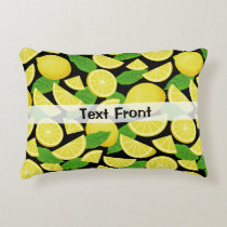 Lemon Background Accent Pillow