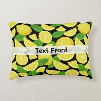 Lemon Background Accent Pillow