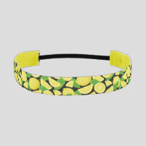 Lemon Background Athletic Headband