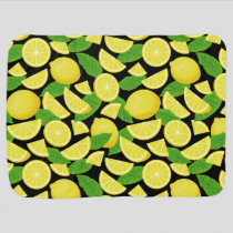 Lemon Background Baby Blanket