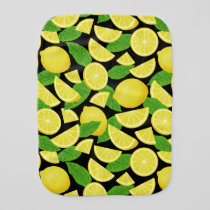 Lemon Background Baby Burp Cloth