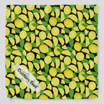 Lemon Background Bandana