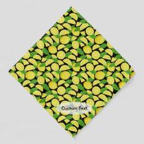Lemon Background Bandana