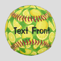 Lemon Background Baseball
