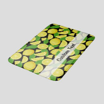 Lemon Background Bath Mat