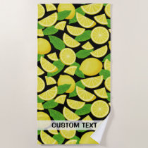 Lemon Background Beach Towel