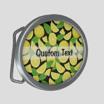 Lemon Background Belt Buckle