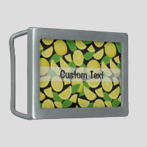 Lemon Background Belt Buckle