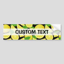 Lemon Background Bumper Sticker