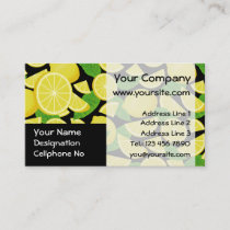 Lemon Background Business Card