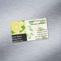 Lemon Background Business Card Magnet