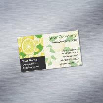 Lemon Background Business Card Magnet