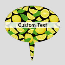 Lemon Background Cake Topper