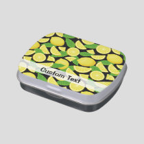 Lemon Background Candy Tin