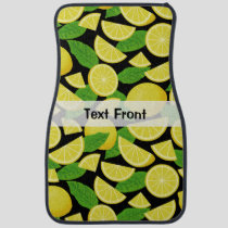 Lemon Background Car Floor Mat