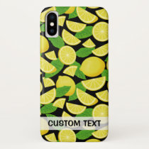 Lemon Background iPhone X Case