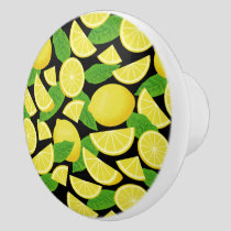 Lemon Background Ceramic Knob