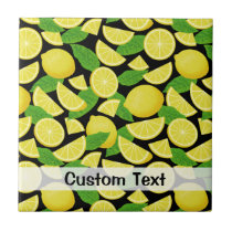 Lemon Background Ceramic Tile