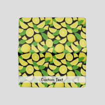 Lemon Background Checkbook Cover