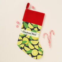 Lemon Background Christmas Stocking