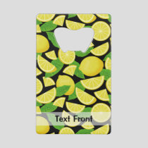 Lemon Background Credit Card Bottle Opener