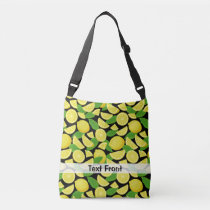 Lemon Background Crossbody Bag