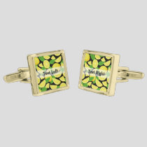 Lemon Background Cufflinks