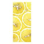 Lemon background custom rack cards