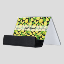 Lemon Background Desk Business Card Holder