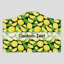 Lemon Background Door Sign