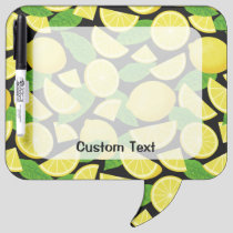 Lemon Background Dry Erase Board