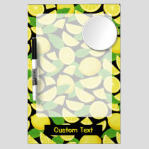 Lemon Background Dry Erase Board With Mirror