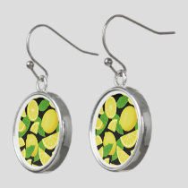 Lemon Background Earrings