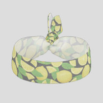 Lemon Background Elastic Hair Tie
