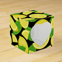 Lemon Background Favor Box