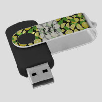 Lemon Background Flash Drive