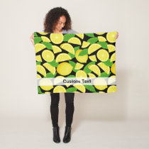 Lemon Background Fleece Blanket