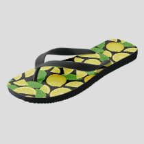 Lemon Background Flip Flops