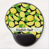 Lemon Background Gel Mouse Pad