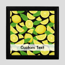 Lemon Background Gift Box
