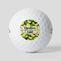Lemon Background Golf Balls