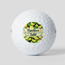 Lemon Background Golf Balls