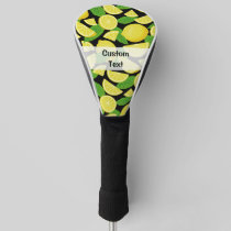 Lemon Background Golf Head Cover