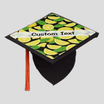 Lemon Background Graduation Cap Topper