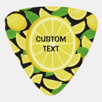Lemon Background Guitar Pick