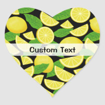 Lemon Background Heart Sticker