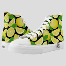 Lemon Background High-Top Sneakers